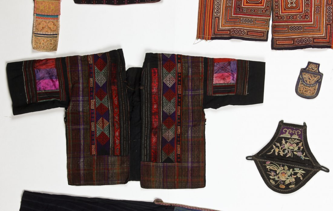 Group of 15 Chinese Minority Textiles - 4