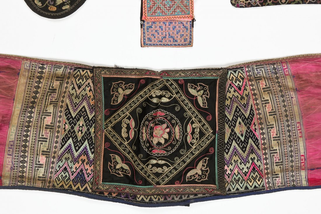 Group of 15 Chinese Minority Textiles - 6
