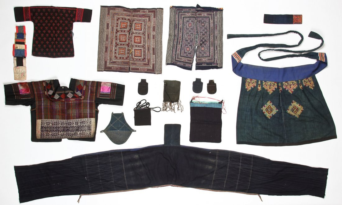 Group of 15 Chinese Minority Textiles - 7