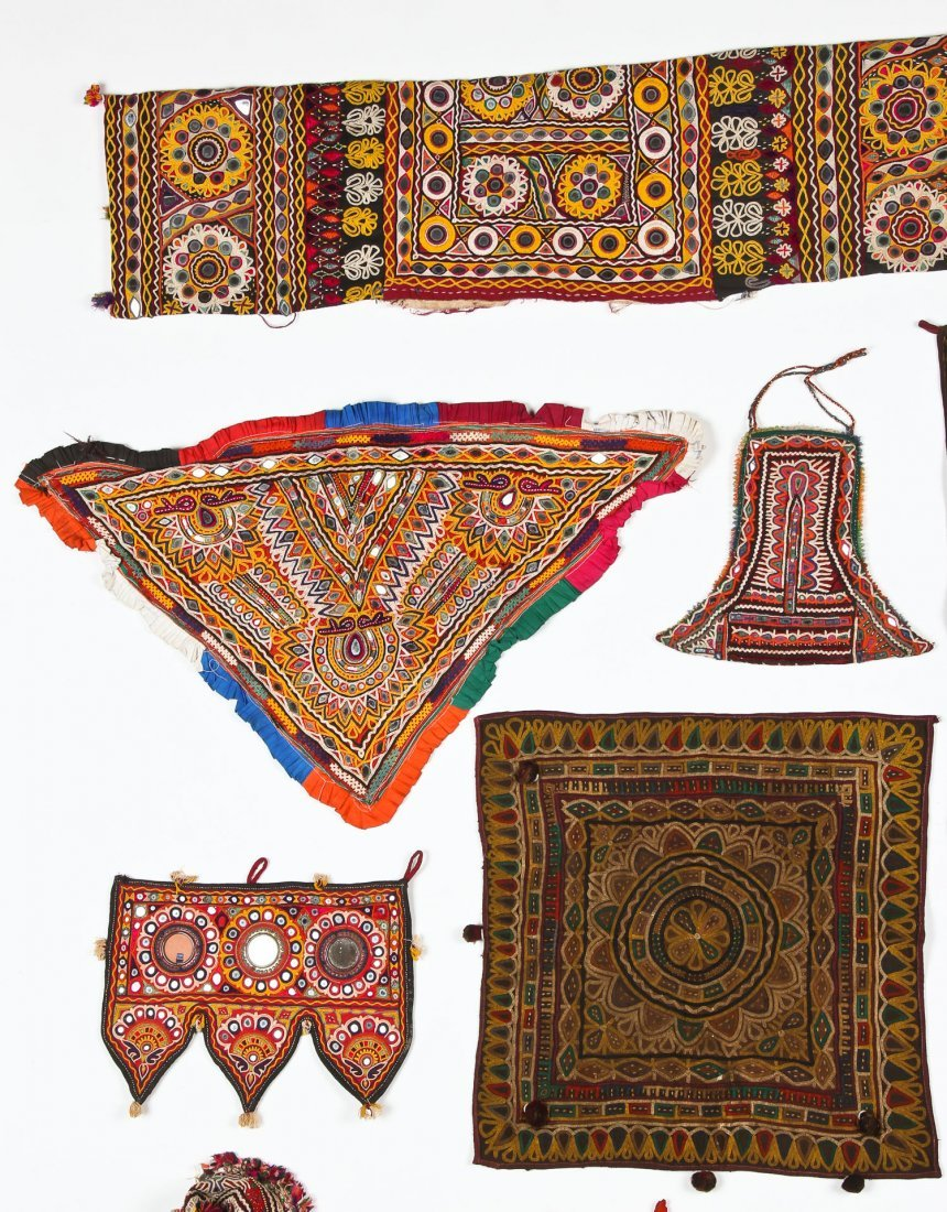 Group of 13 Indian Textiles - 2