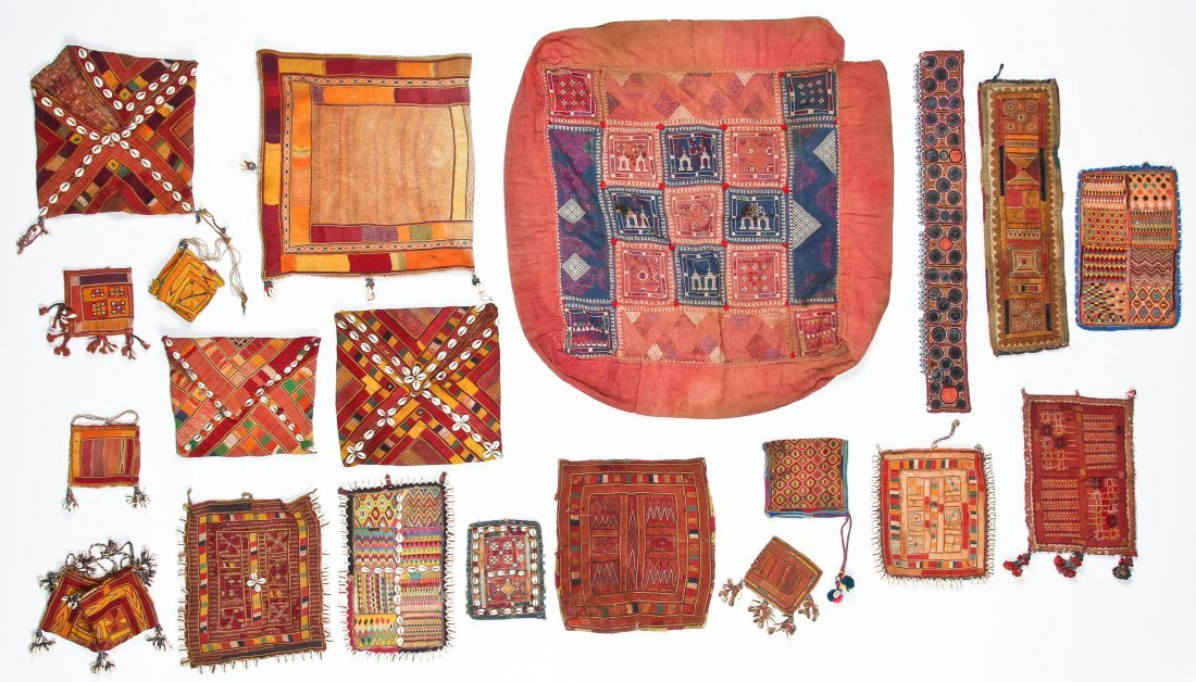 20 Indian Tribal Textiles, Early 20th C