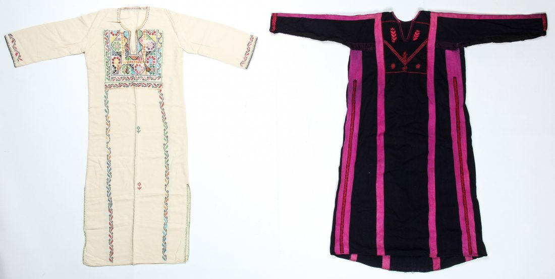 2 Vintage Bedouin Embroidered Thobes/Abayas