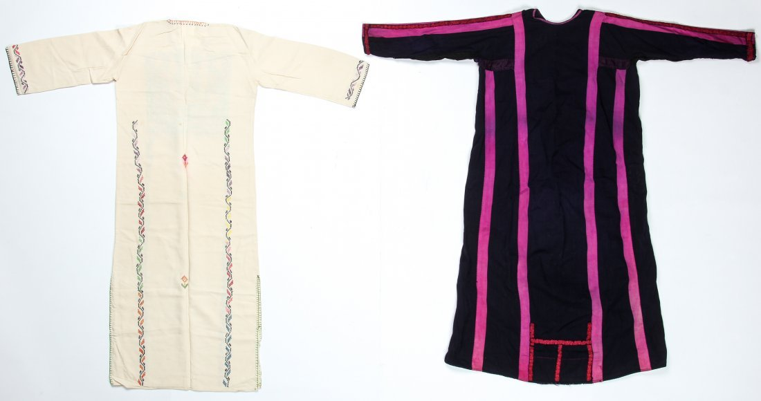 2 Vintage Bedouin Embroidered Thobes/Abayas - 6