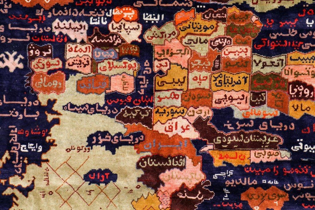 Rare Vintage Map of Afghanistan War Rug: 5'9'' x 7'3'' - 2