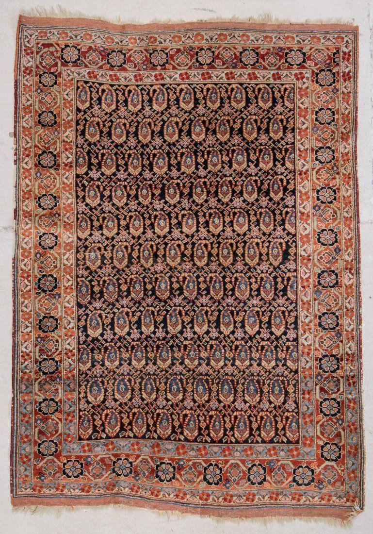 "Antique Afshar Rug: 4'3"" x 5'10"" (130 x 178 cm)"
