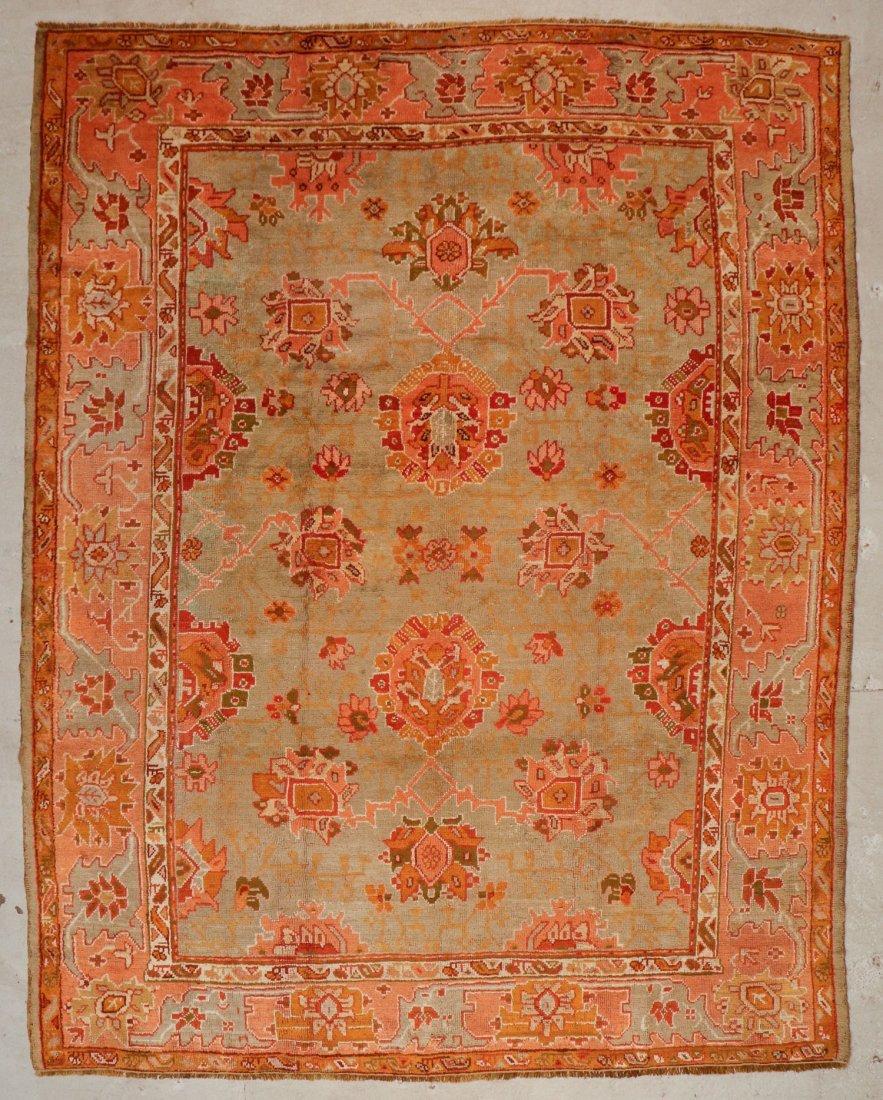 Antique Oushak Rug: 9'7'' x 12'1'' (292 x 368 cm)