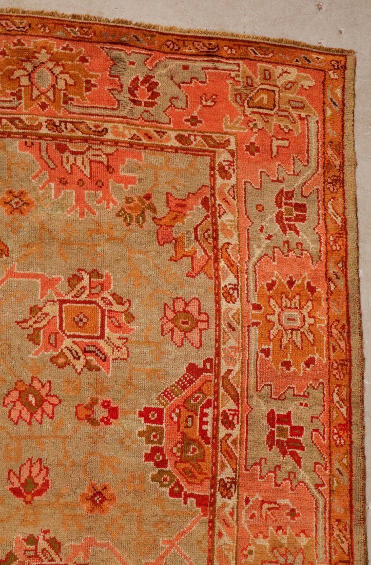 Antique Oushak Rug: 9'7'' x 12'1'' (292 x 368 cm) - 2