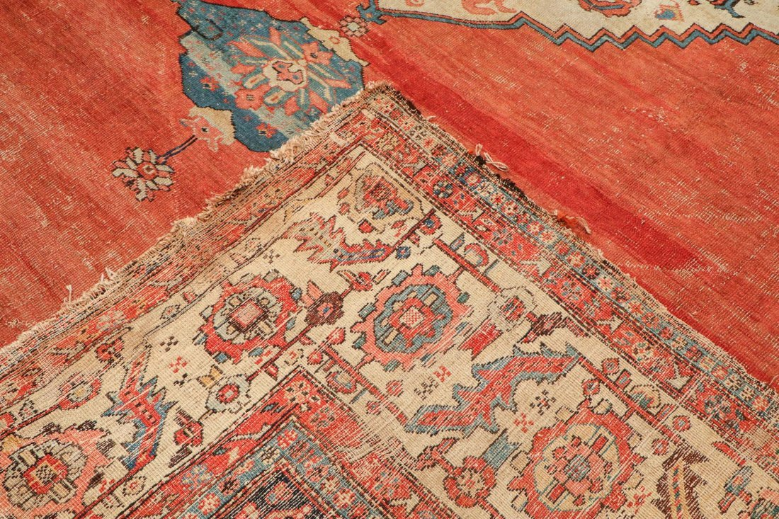 Antique Bakshaish Rug: 11'5'' x 17'10'' (348 x 544 cm) - 4