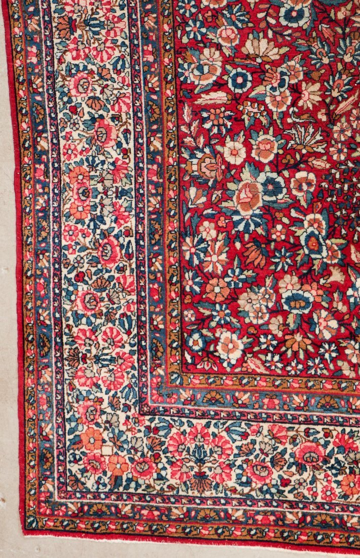 Semi-Antique Kerman Rug: 11'4'' x 8'10'' (345 x 269 cm) - 2