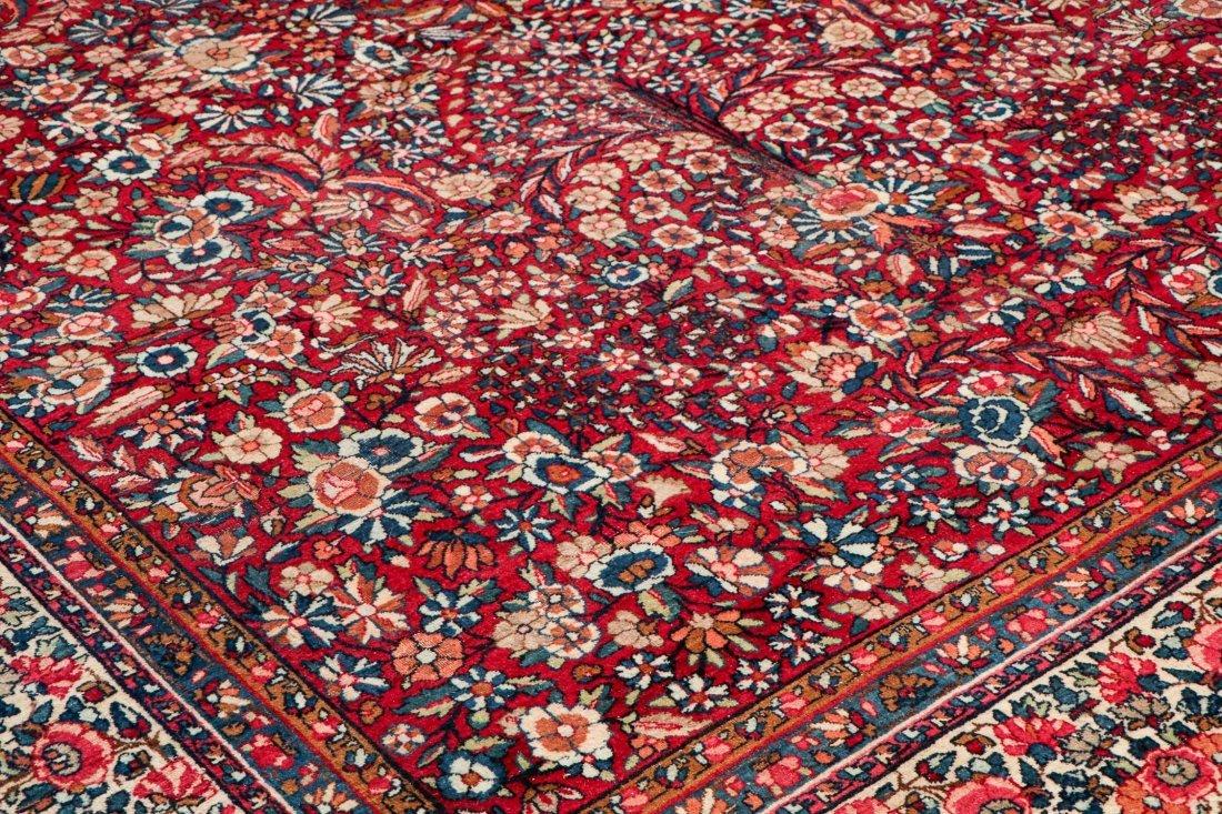 Semi-Antique Kerman Rug: 11'4'' x 8'10'' (345 x 269 cm) - 3