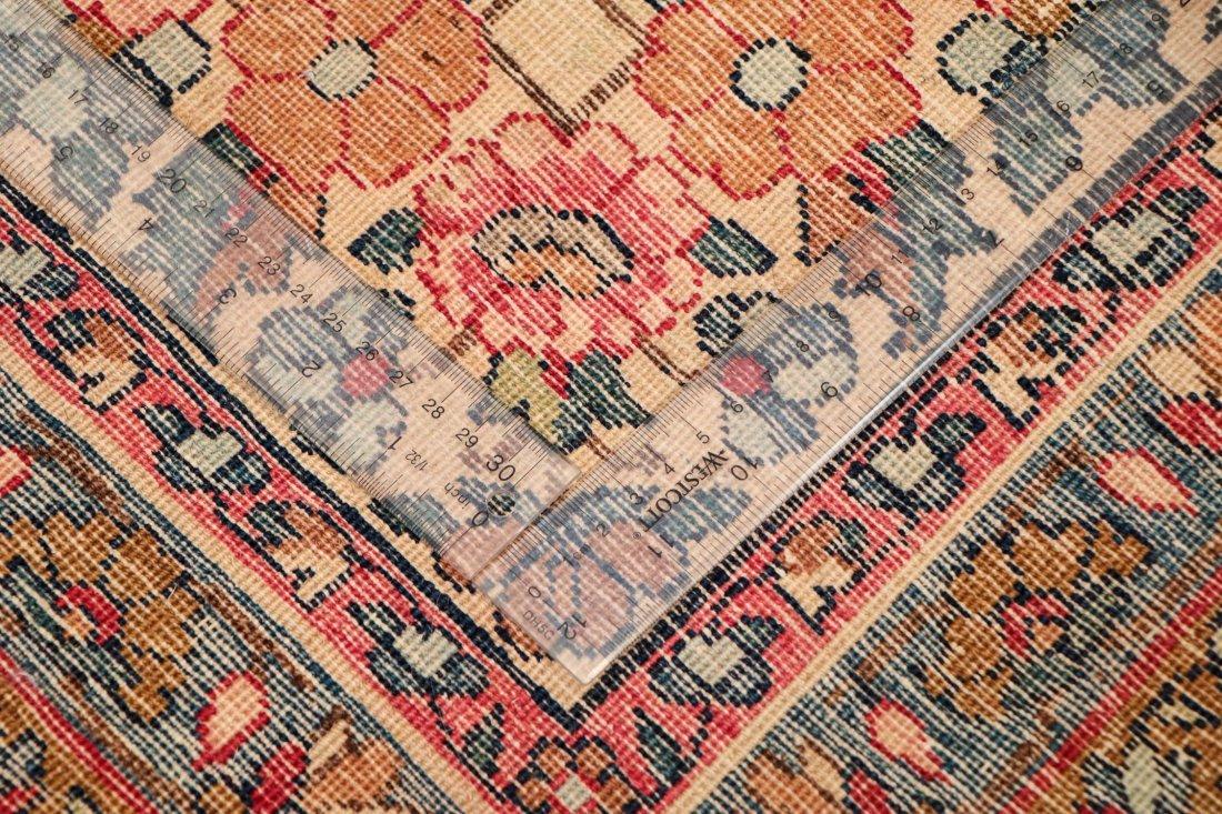 Semi-Antique Kerman Rug: 11'4'' x 8'10'' (345 x 269 cm) - 5