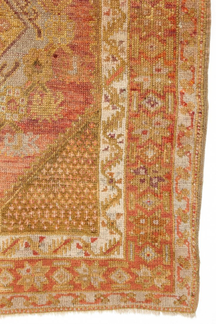 """Antique Oushak Village Rug: 3'3"""" x 4'6"""" (99 x 137 cm) - 2"""