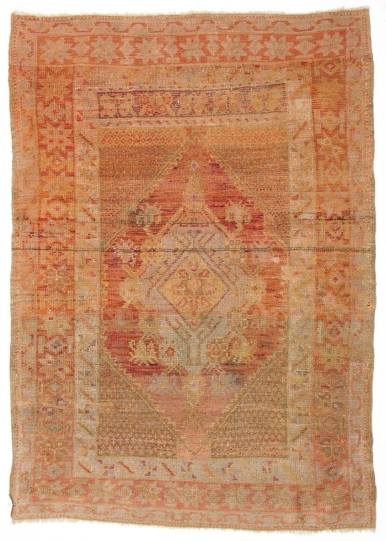 """Antique Oushak Village Rug: 3'3"""" x 4'6"""" (99 x 137 cm) - 6"""