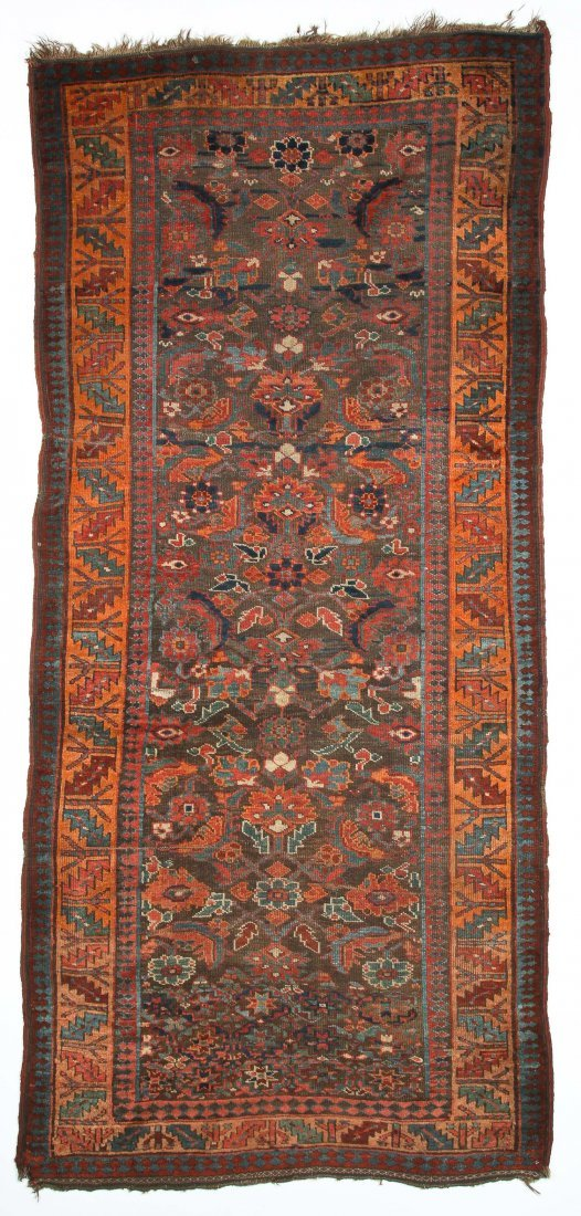 "Antique Northwest Persian Kurd Rug: 3'10"" x 8'4"""