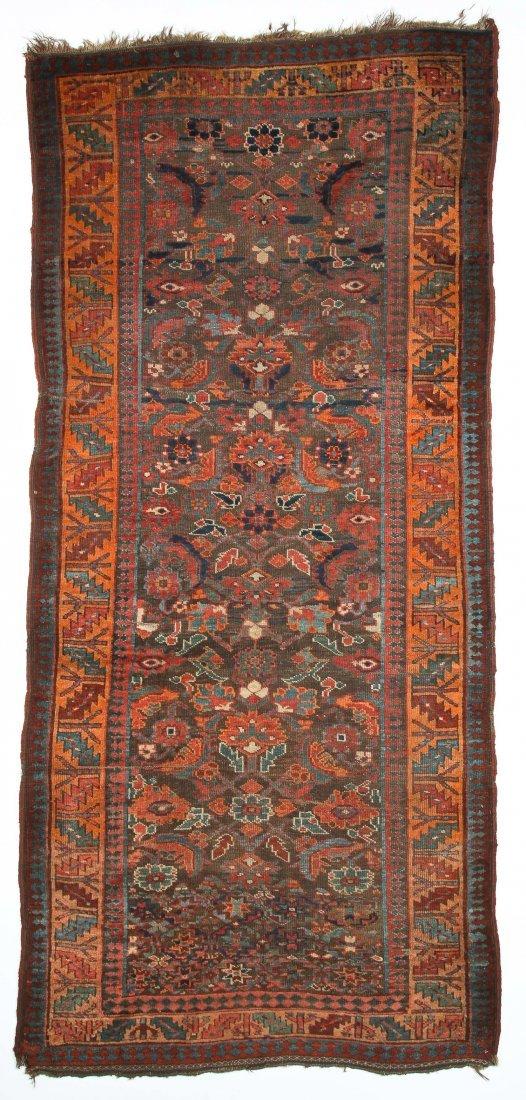 "Antique Northwest Persian Kurd Rug: 3'10"" x 8'4"""