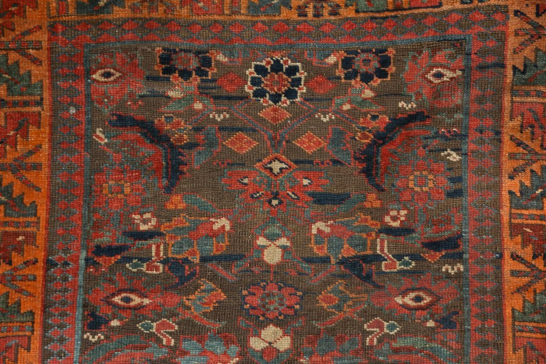 "Antique Northwest Persian Kurd Rug: 3'10"" x 8'4"" - 5"