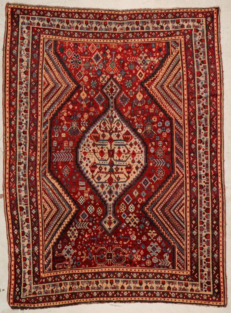 "Antique Shiraz Rug: 5'4"" x 7'2"" (163 x 218 cm)"