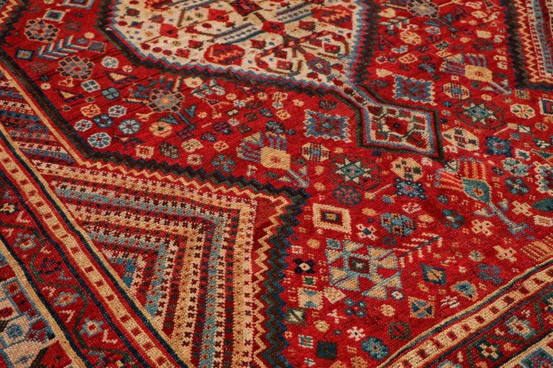 "Antique Shiraz Rug: 5'4"" x 7'2"" (163 x 218 cm) - 3"