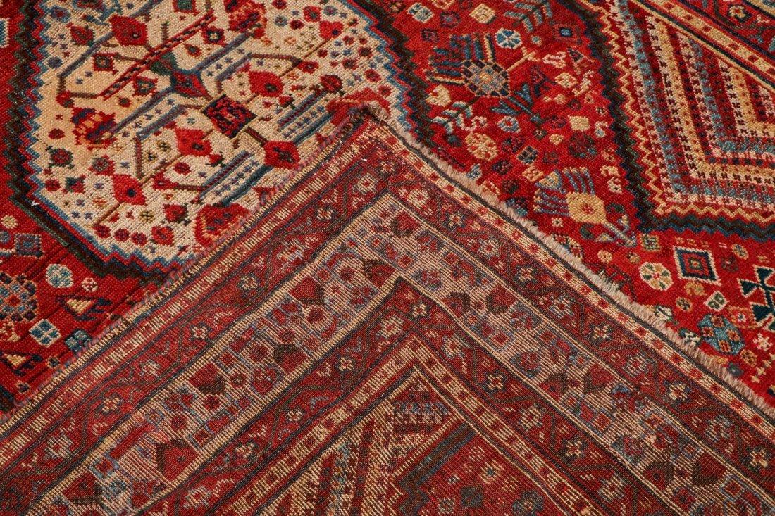 "Antique Shiraz Rug: 5'4"" x 7'2"" (163 x 218 cm) - 4"