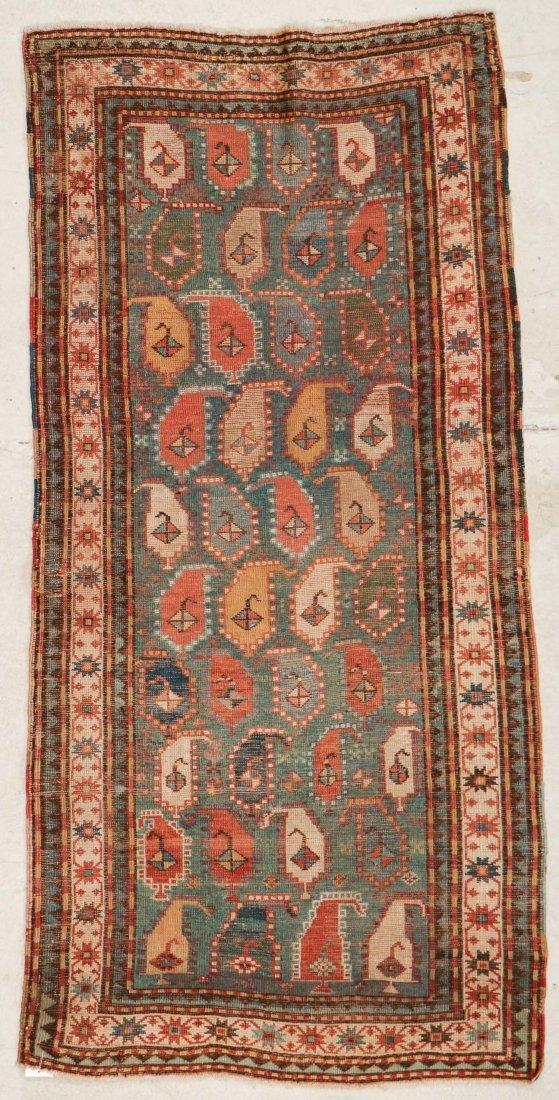 """Antique Kazak Rug: 3'5"""" x 6'11"""" (104 x 211 cm) - 6"""