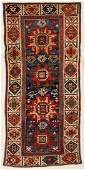 "Antique Caucasian Rug: 3'1"" x 6'9"" (94 x 206 cm)"