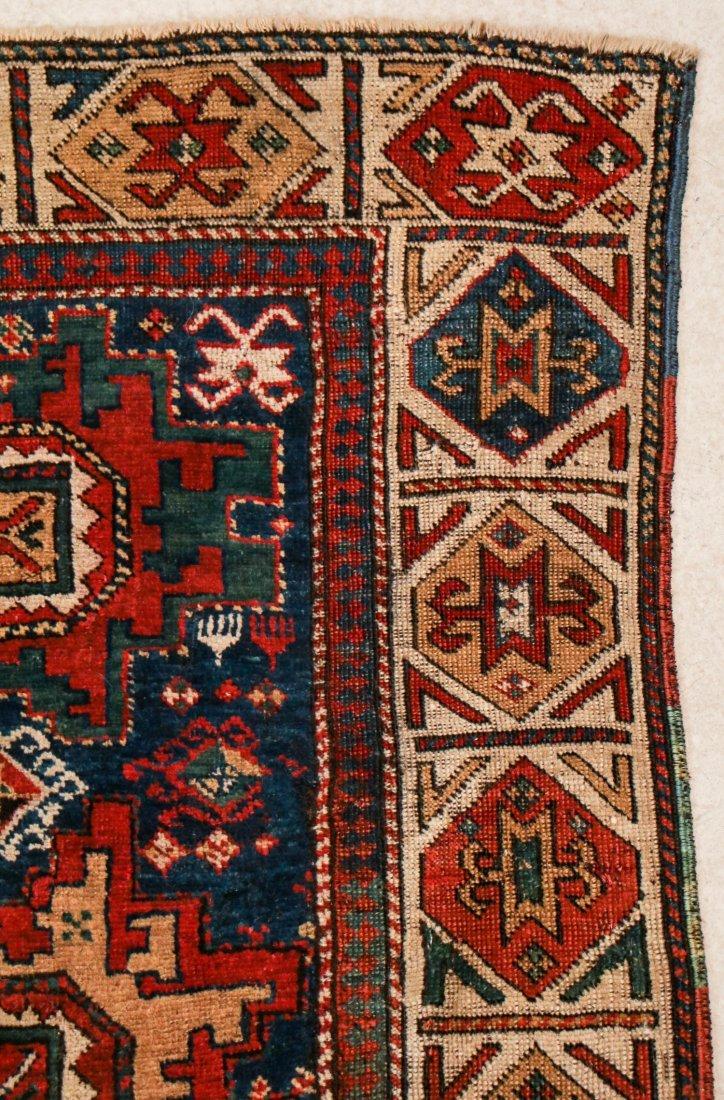 """Antique Caucasian Rug: 3'1"""" x 6'9"""" (94 x 206 cm) - 2"""