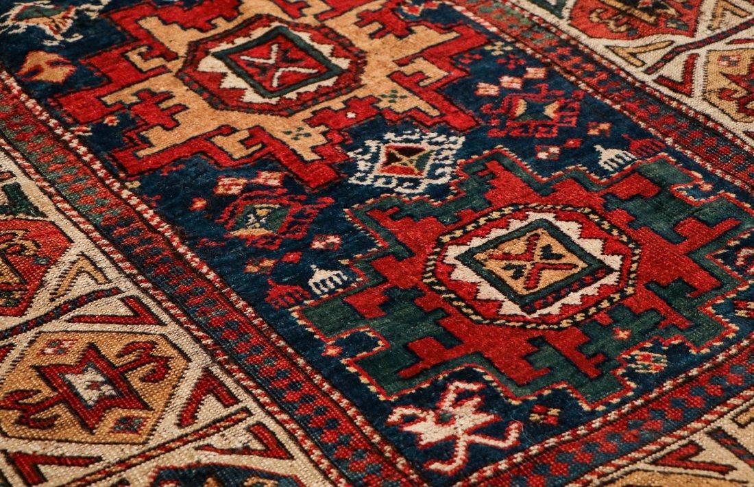 """Antique Caucasian Rug: 3'1"""" x 6'9"""" (94 x 206 cm) - 3"""