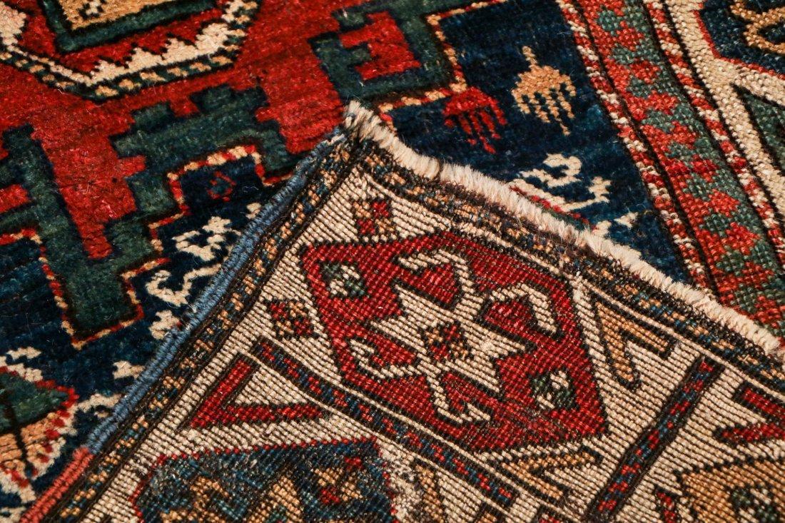 """Antique Caucasian Rug: 3'1"""" x 6'9"""" (94 x 206 cm) - 4"""