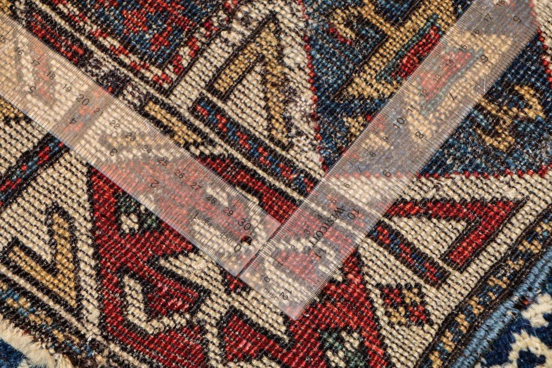 """Antique Caucasian Rug: 3'1"""" x 6'9"""" (94 x 206 cm) - 5"""