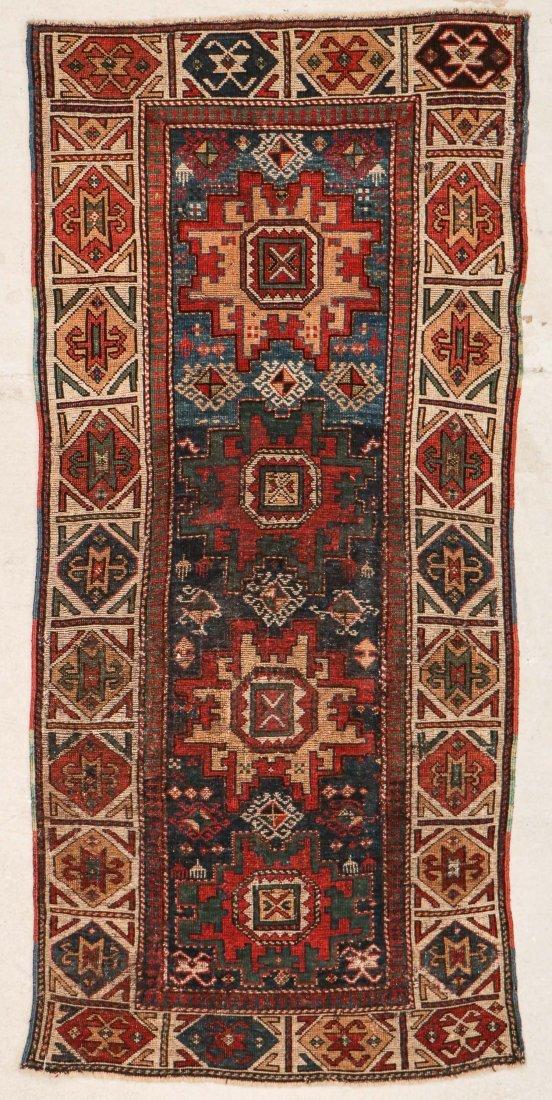 """Antique Caucasian Rug: 3'1"""" x 6'9"""" (94 x 206 cm) - 6"""