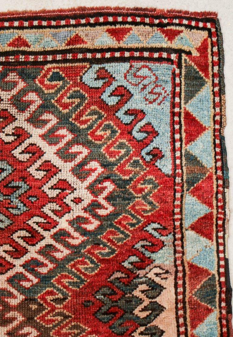 """Antique Kazak Rug: 3'10"""" x 6'11"""" (117 x 211 cm) - 2"""