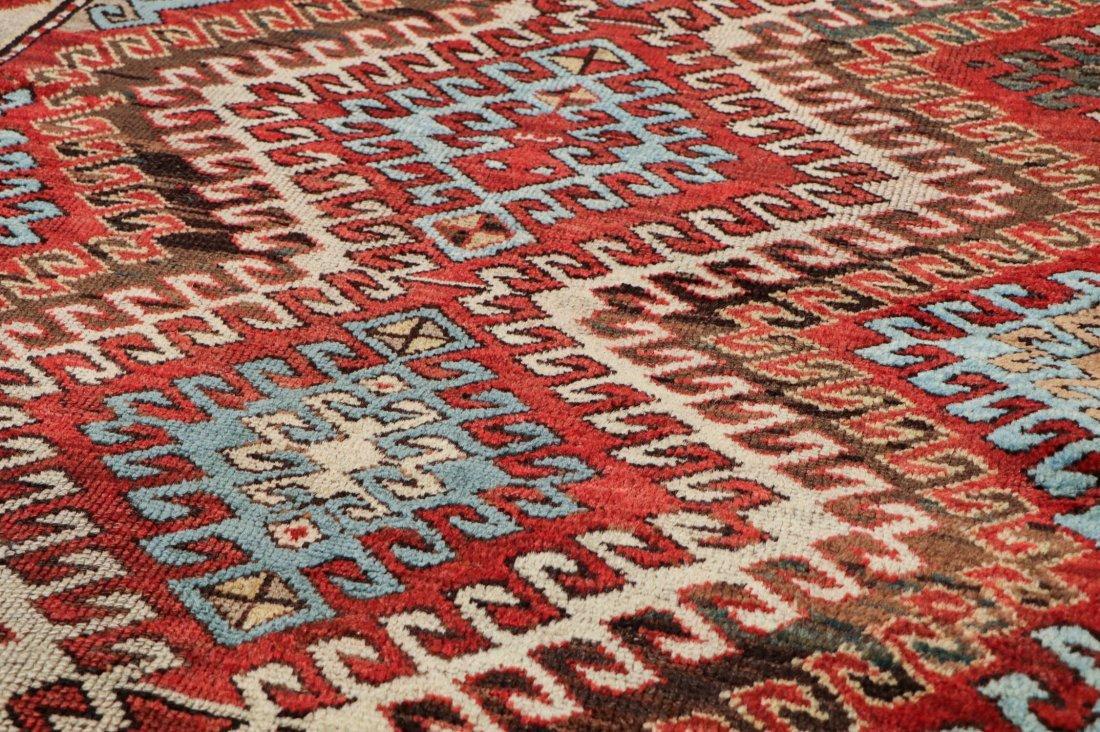 """Antique Kazak Rug: 3'10"""" x 6'11"""" (117 x 211 cm) - 3"""