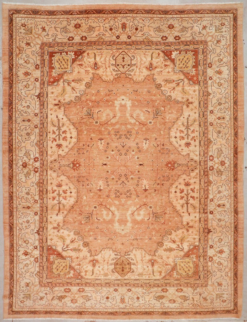 Vintage Afghan Rug: 12'0'' x 15'6'' (366 x 472 cm)