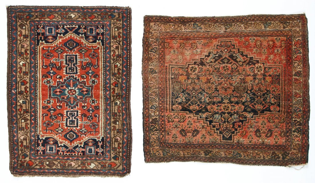 2 Small Antique West Persian Rugs