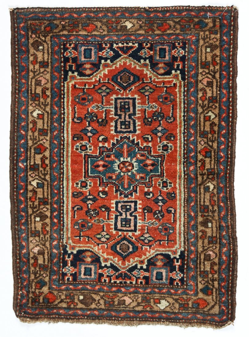 2 Small Antique West Persian Rugs - 2