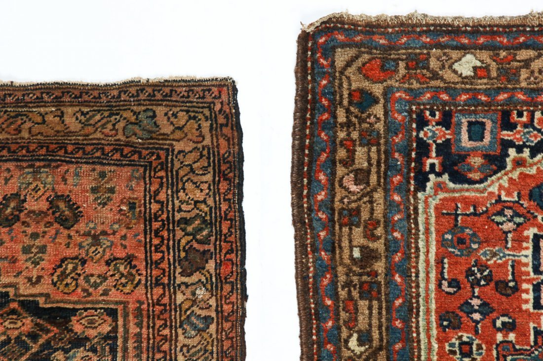 2 Small Antique West Persian Rugs - 4