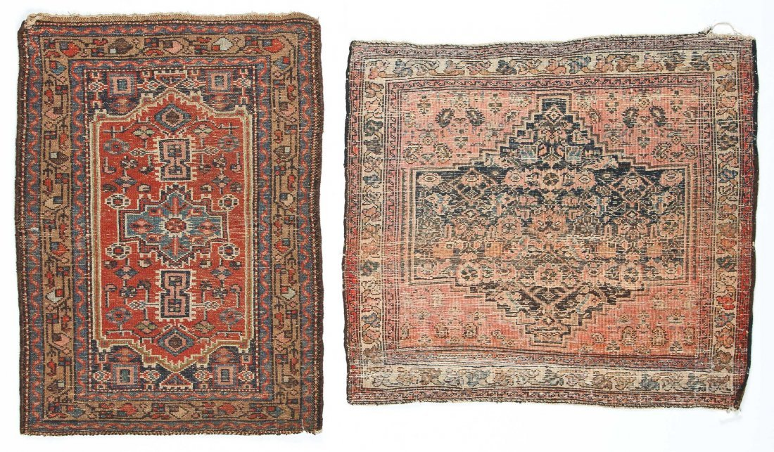 2 Small Antique West Persian Rugs - 7
