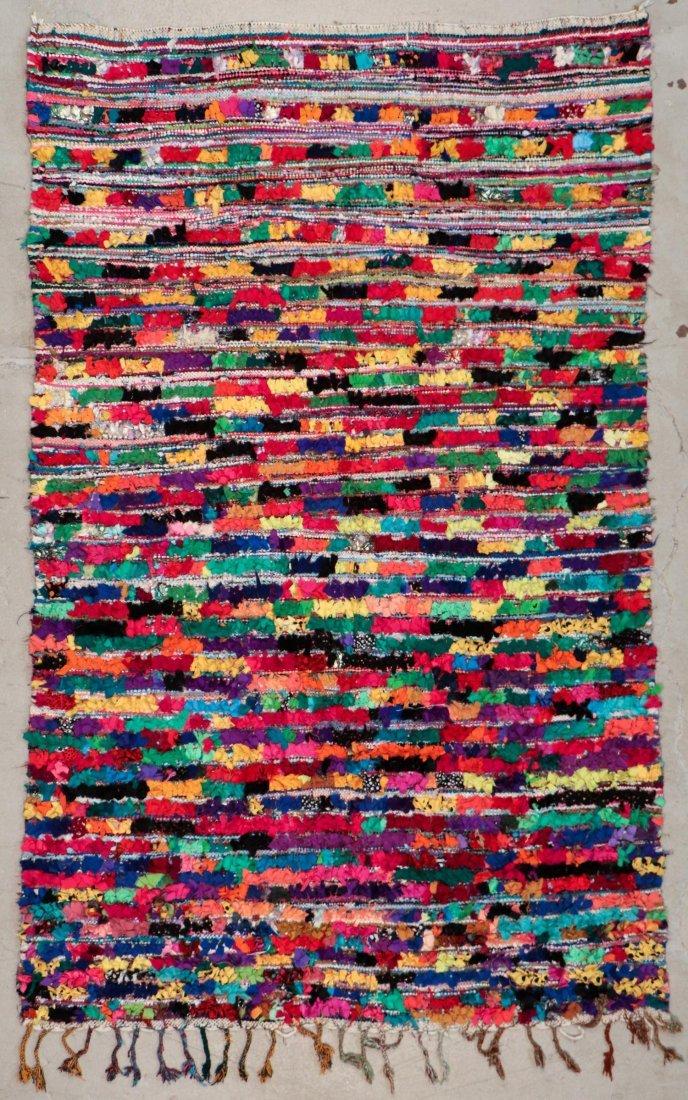 """Vintage Moroccan Rug: 5'5"""" x 8'10"""" (166 x 270 cm)"""