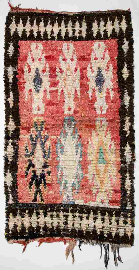 """Vintage Moroccan Rug: 1'3"""" x 6' (39 x 182 cm)"""