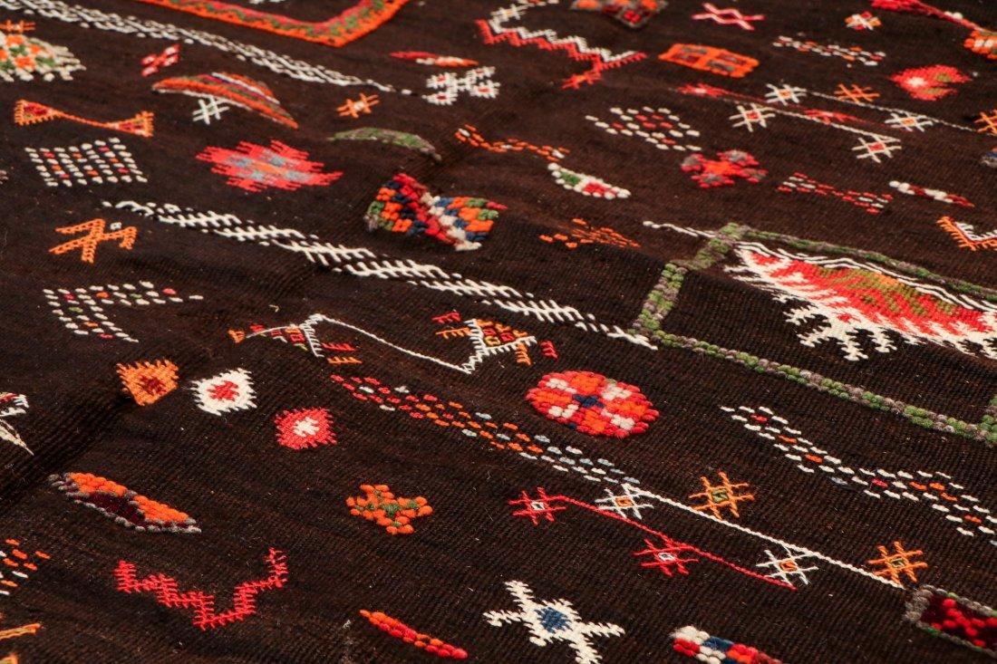 """Vintage Moroccan Rug: 3'11"""" x 6' (119 x 183 cm) - 3"""