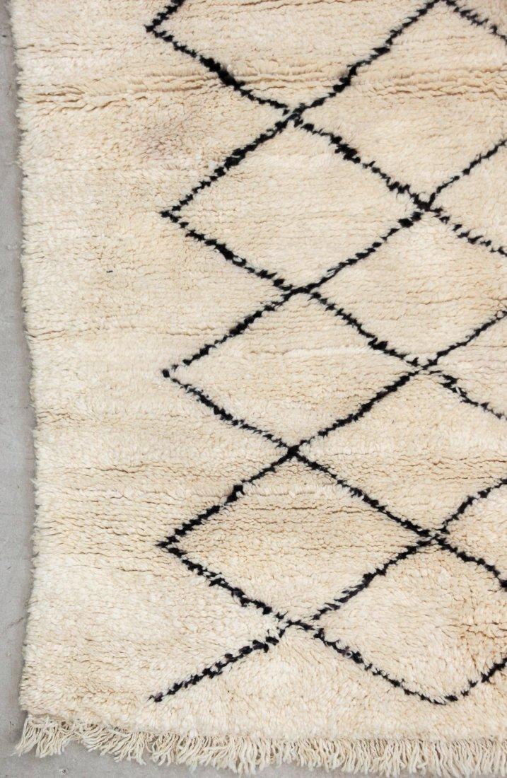 """Vintage Beni Ourain Rug: 6'7"""" x 7'5"""" (200 x 225 cm) - 2"""