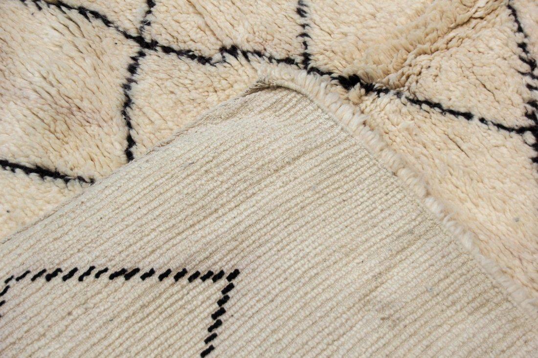 """Vintage Beni Ourain Rug: 6'7"""" x 7'5"""" (200 x 225 cm) - 4"""