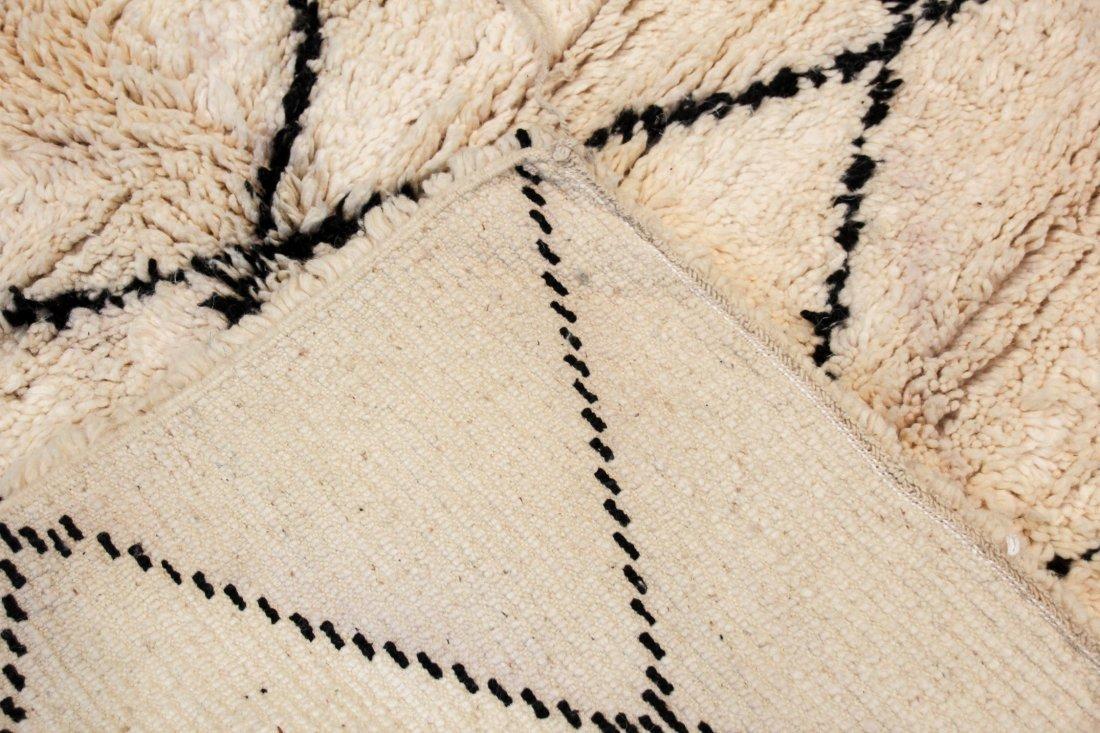 """Vintage Beni Ourain Rug: 5'7"""" x 6'8"""" (170 x 203 cm) - 4"""