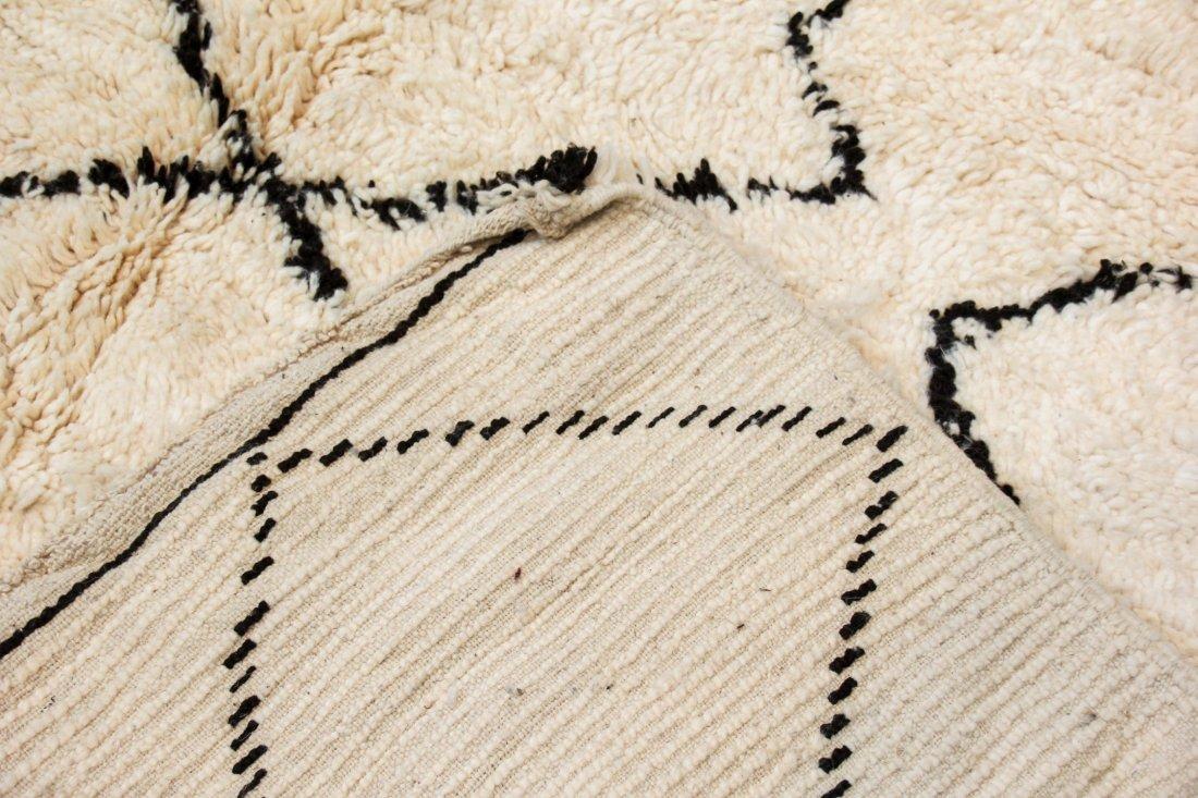 """Vintage Beni Ourain Rug: 7'1"""" x 9'11"""" (216 x 303 cm) - 4"""