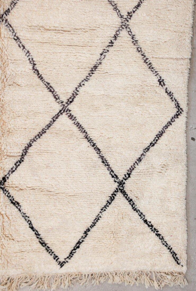 """Vintage Beni Ourain Rug: 7'5"""" x 9'4"""" (226 x 285 cm) - 2"""