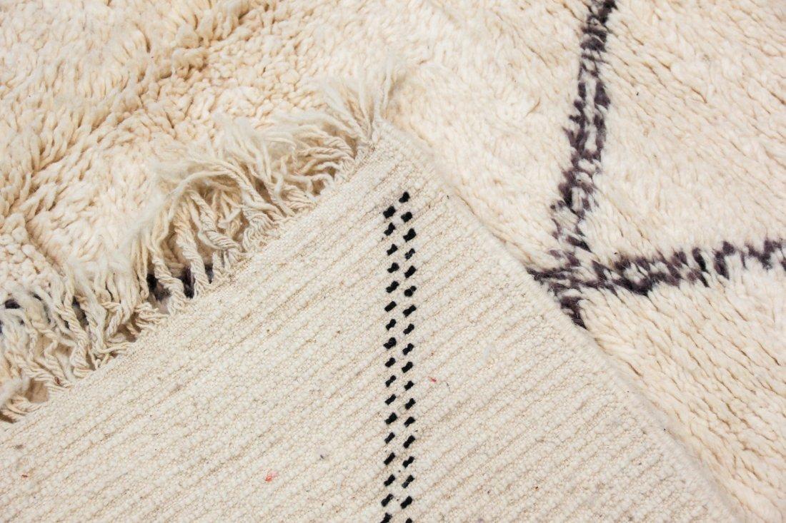 """Vintage Beni Ourain Rug: 7'5"""" x 9'4"""" (226 x 285 cm) - 4"""