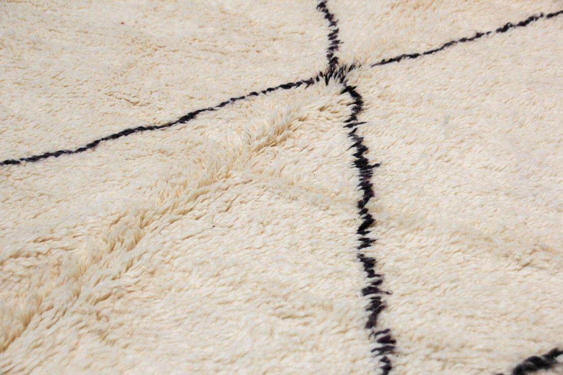 """Vintage Beni Ourain Rug: 6'6"""" x 9'6"""" (198 x 289 cm) - 3"""