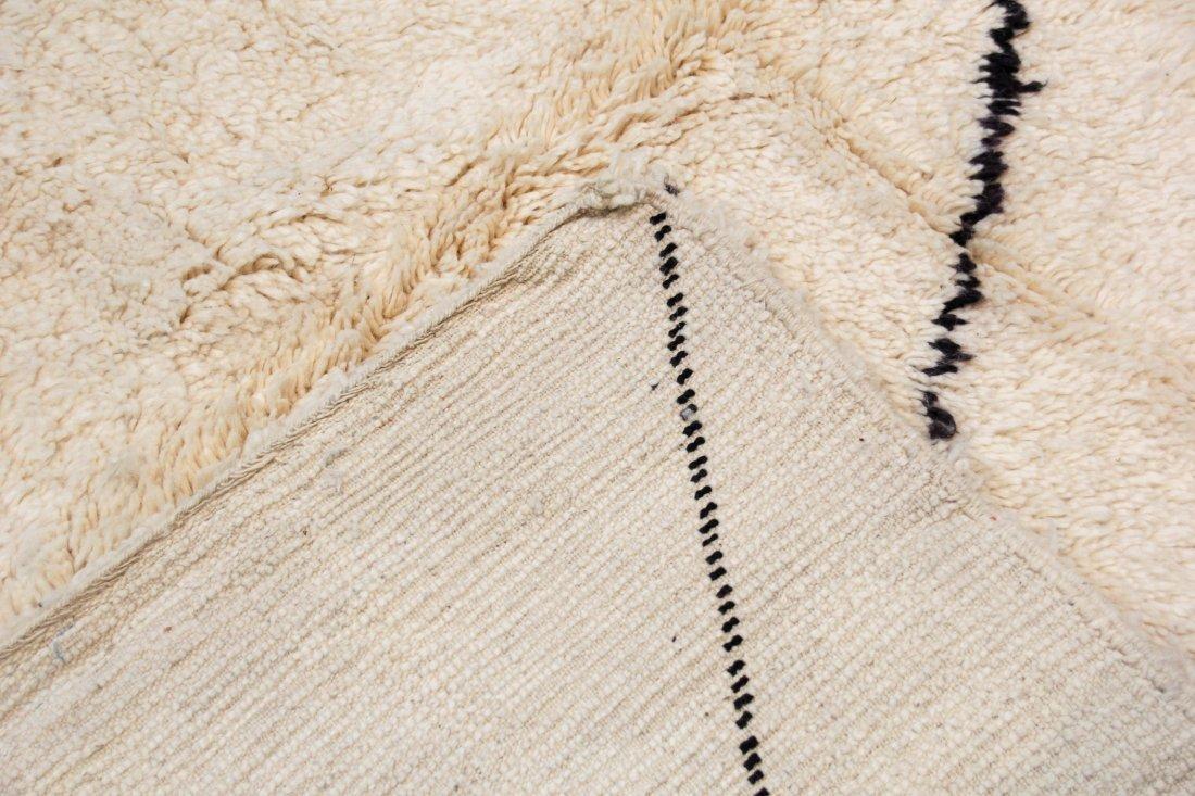 """Vintage Beni Ourain Rug: 6'6"""" x 9'6"""" (198 x 289 cm) - 4"""