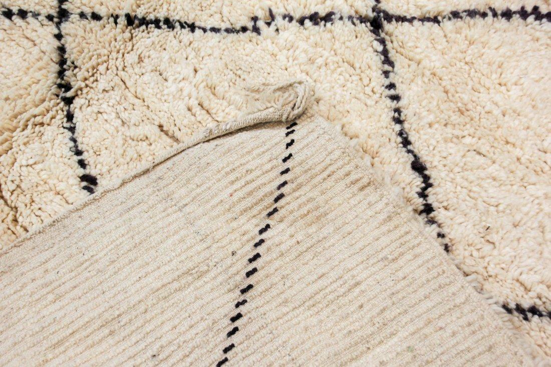 """Vintage Beni Ourain Rug: 6'11"""" x 8'9"""" (210 x 266 cm) - 4"""