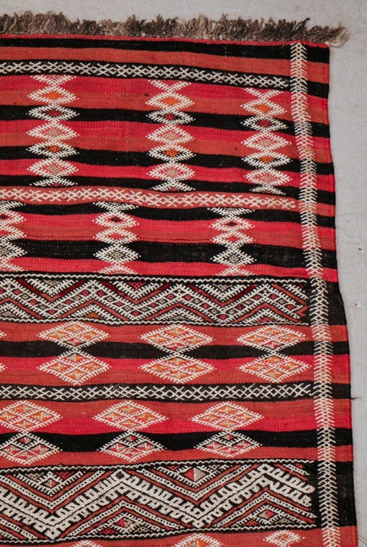 "Vintage Moroccan Kilim: 5'6"" x 10'10"" (167 x 330 cm) - 2"